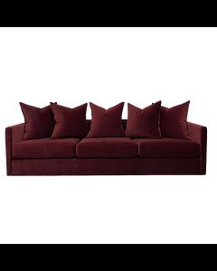 Pillow Burgundy Velvet Sofa