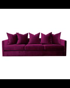 Pillow Fuchsia Velvet Sofa