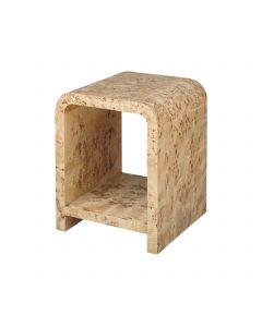 Putnam Burl Wood Side Table
