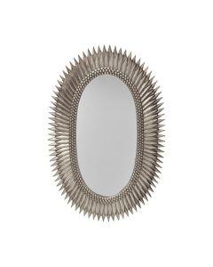 Rita Silver Leaf Starburst Mirror