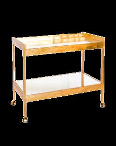 Worlds Away Roland Gold Bar Cart