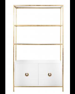 Worlds Away Wyeth Gold Cabinet