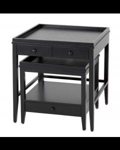 Bleeker Black Side Table - Set of 2