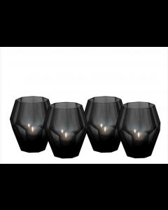Okhto Small Black Tealight Holder - Set of 4
