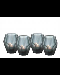 Okhto Small Blue Tealight Holder - Set of 4