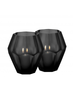 Okhto Large Black Tealight Holder - Set of 2