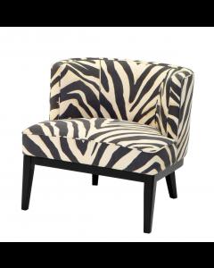 Eichholtz Baldessari Zebra Print Chair