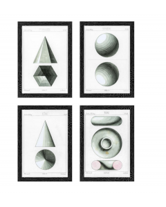 Spherical Projection Prints - Set of 4