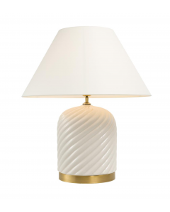 Savona White Ceramic Table Lamp