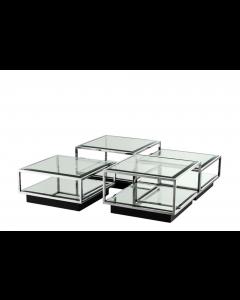 Tortona Stainless Steel Coffee Table - Set of 4