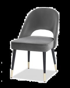 Yves Kaster Slate Velvet Dining Chair