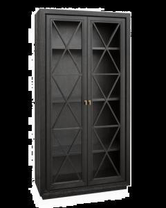 York Wenge Oak Tall Cabinet