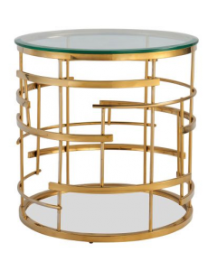 Viena Brass Side Table