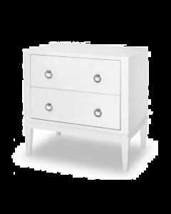 Verona White Bedside Table