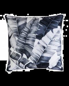 Tropical White & Black Pillow