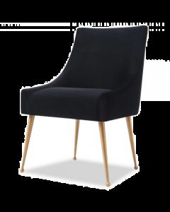 Cohen Pitch Black Velvet Dining Chair