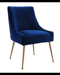 Cohen Marine Blue Velvet Dining Chair