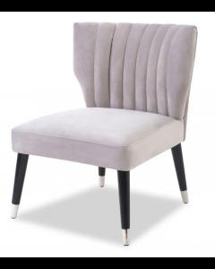 Agatha Fog Grey Velvet Armchair