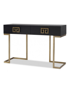 Nobbu Black Ash & Brass Console Table