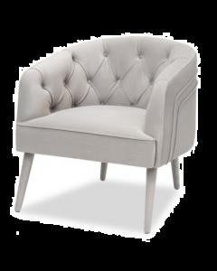 Langham Kaster Light Grey Velvet Armchair