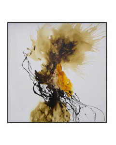 Abstract Gold Hand Painted Oil Paint on Canvas
