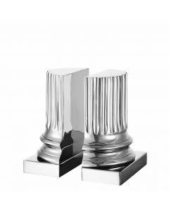Pillar Nickel Bookend - Set of 2