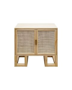 TUCKER CANE AND PINE CABINET