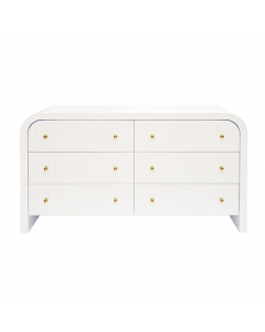 Valentina White Lacquer Waterfall Chest