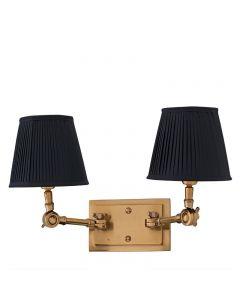 EICHHOLTZ WENTWORTH WALL LAMP DBL/BLK